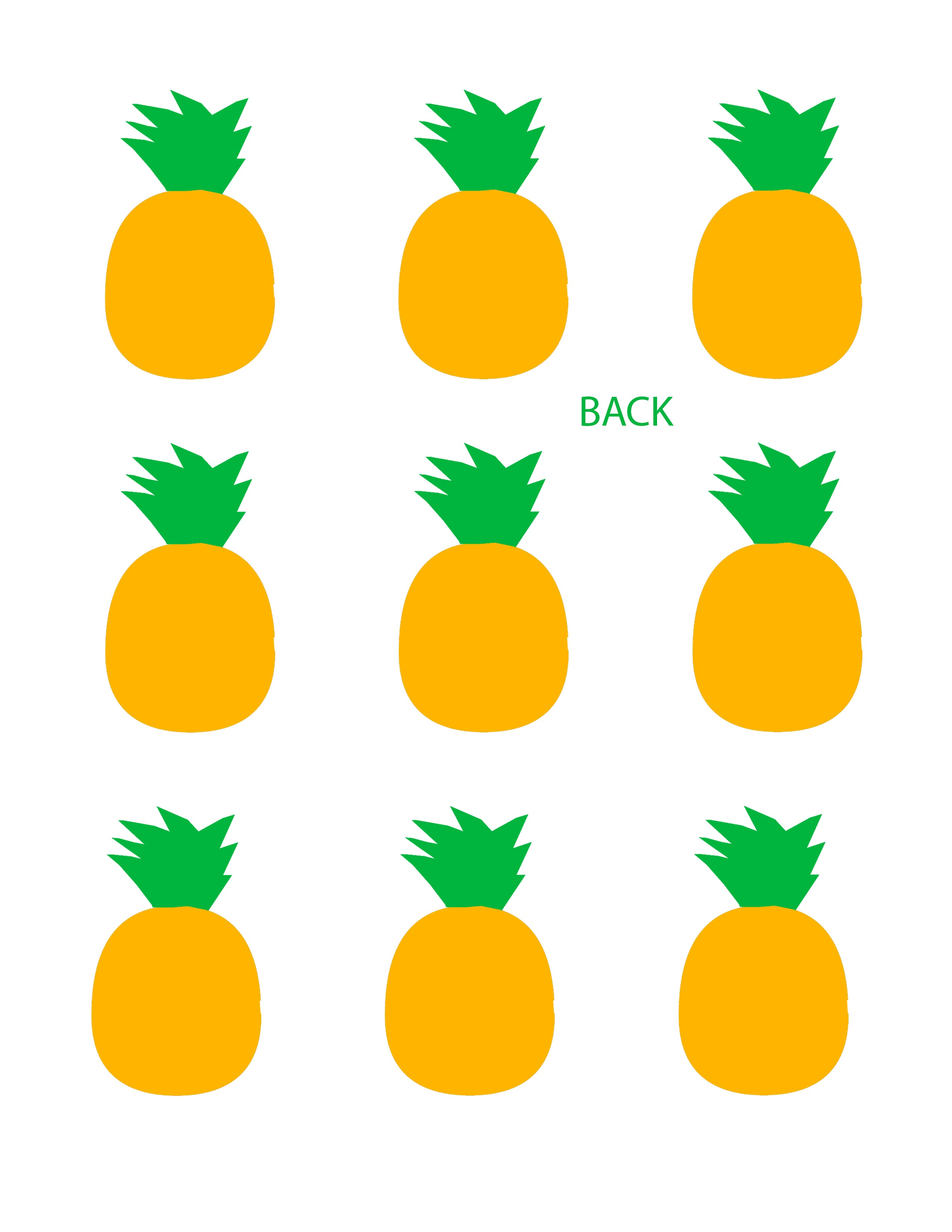 Pineapple French Macaron Template Front
