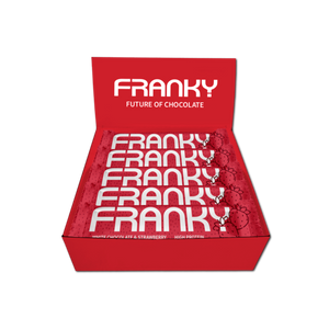 WHITE CHOCOLATE & STRAWBERRY - Feel Good Box (20 Stück) - FRANKY Chocolate