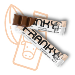FRANKY MILK CHOCOLATE & ALMONDS - Feel Good Box (20 Stück) - FRANKY Chocolate