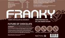 Laden Sie das Bild in den Galerie-Viewer, FRANKY DARK CHOCOLATE & COCONUT - Nasch Box (12 Stück) - FRANKY Chocolate
