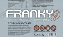 Laden Sie das Bild in den Galerie-Viewer, FRANKY WHITE CHOCOLATE & COCONUT - Feel Good Box (20 Stück) - FRANKY Chocolate