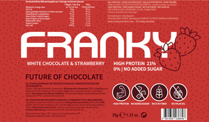 FRANKY WHITE CHOCOLATE & STRAWBERRY - Feel Good Box (20 Stück) - FRANKY Chocolate