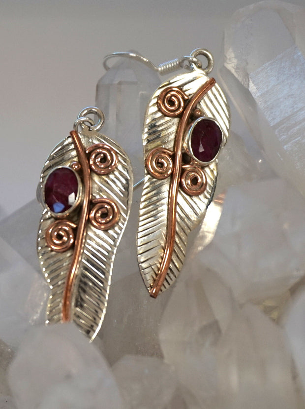 Ruby and Sterling Earring Set 7
