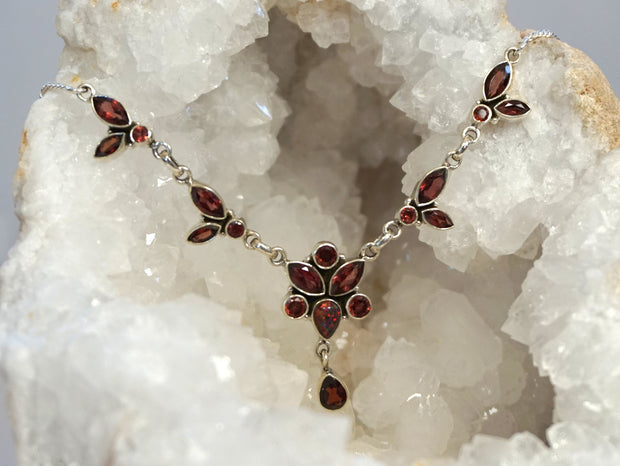 *Faceted Garnet Necklace 2