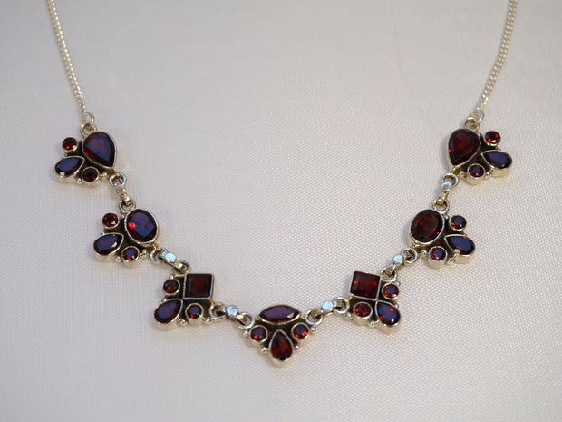 *Faceted Garnet Necklace 1