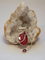 Ruby and Sterling Pendant 6