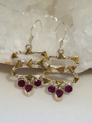 Ruby and Sterling Earring Set 6