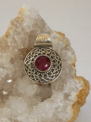 Ruby and Sterling Pendant 4