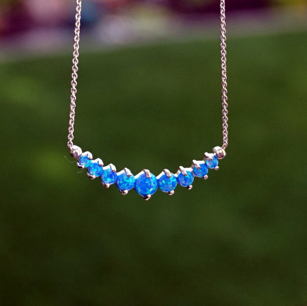Signature Fire Opal Smile Necklace 1
