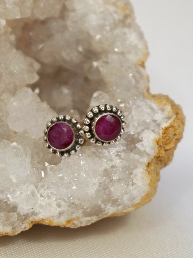 Ruby and Sterling Earring Set 3