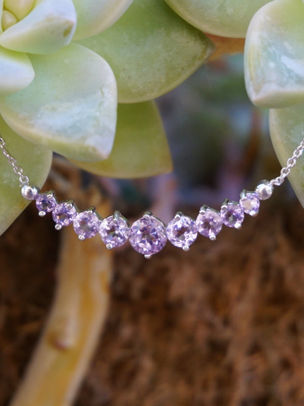 Signature Amethyst Smile Necklace 1