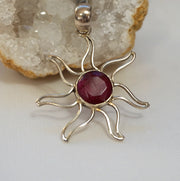 Ruby and Sterling Pendant 2