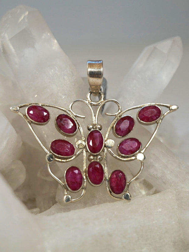 Ruby and Sterling Pendant 8