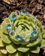 London Blue Topaz and Silver Bracelet