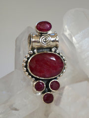 Ruby and Sterling Pendant 7
