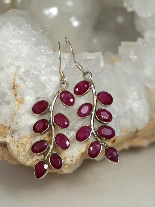 *Ruby and Sterling Earring Set 1