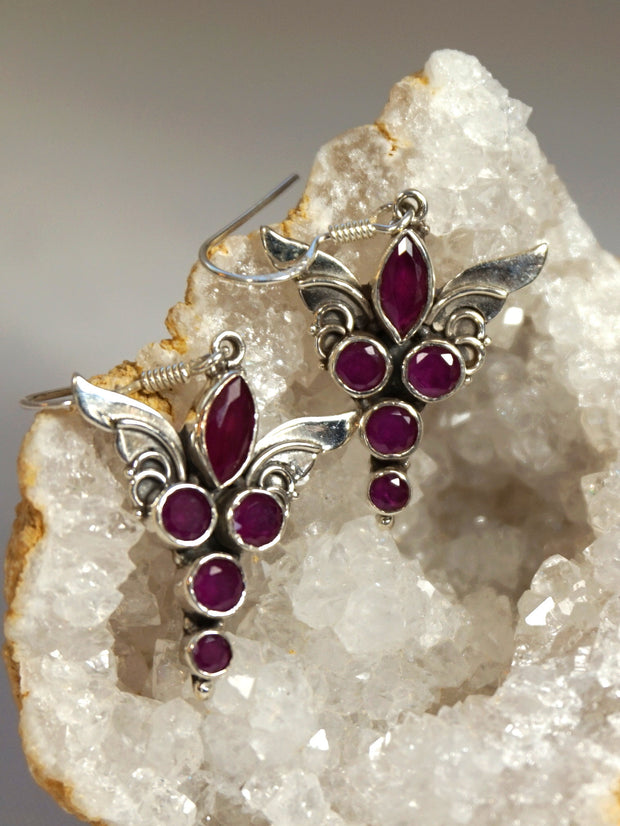 Ruby and Angel Sterling Earring Set 1