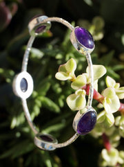 Amethyst Quartz Bangle Bracelet 1