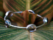 Smoky Quartz Bangle Bracelet 1