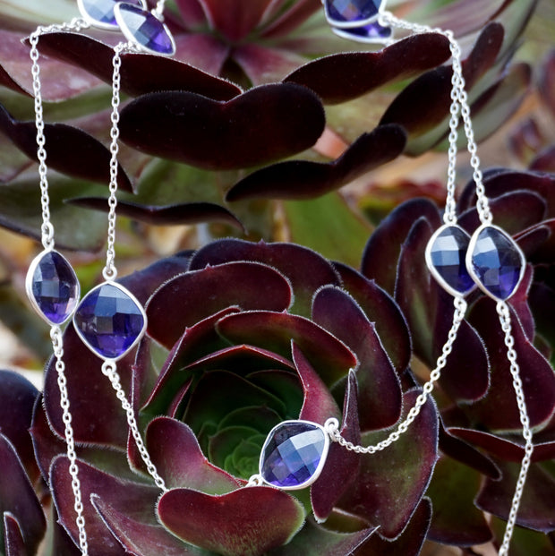 "Long-strand 36"" Amethyst Necklace 1"
