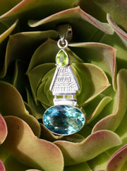 Apatite and Peridot Pendant 1