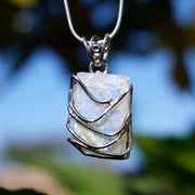 Free-form Organic Rough Moonstone Pendant 1