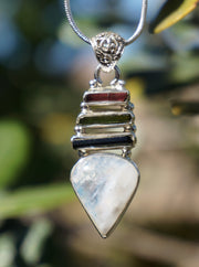 Tourmaline Pendant 4 with Moonstone
