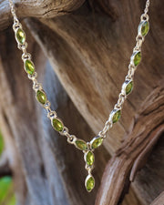 Faceted Peridot Teardrop Necklace