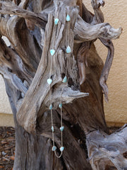 Long-strand Pear-Shaped Larimar Necklace 1