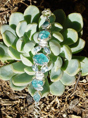 Apatite Bracelet 2 with Blue Topaz
