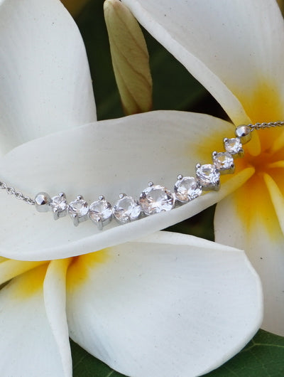 Signature White Topaz Smile Necklace 1