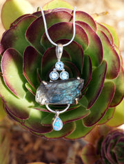 Free-form Rough Labradorite Pendant 2