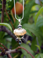 Citrine Quartz Rough Crystal Pendant 4