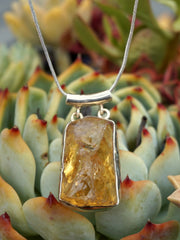 Honey Citrine Quartz Rough Pendant 1