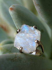 Free-form Organic Moonstone Ring 2