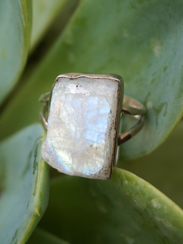 Free-form Organic Moonstone Ring 3