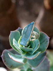 Aqua Aura Quartz Crystal Ring 2