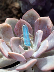 Aqua Aura Quartz Crystal Ring 1