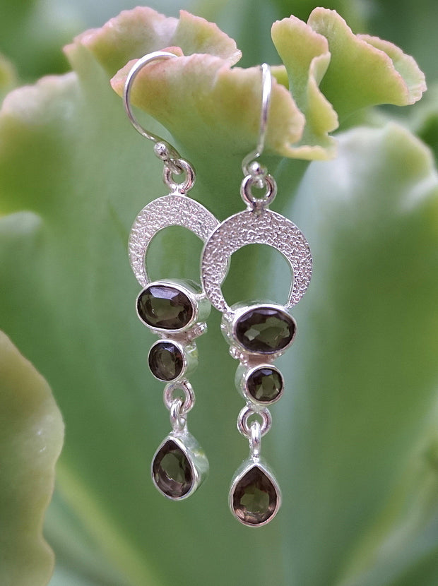 Smoky Quartz Drop Earring Set 1