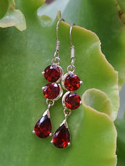 Garnet Drop Earring Set 2