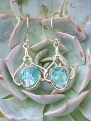 Apatite and Sterling Earring Set 1