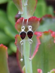 Garnet Drop Earring Set 1