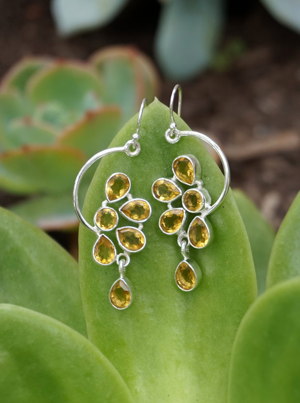 Citrine Drop Earring Set 1