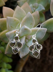 Smoky Quartz Drop Earring Set 2