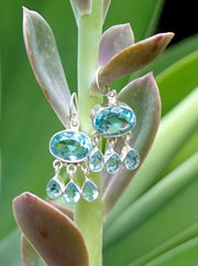 Blue Topaz Earring Set 2