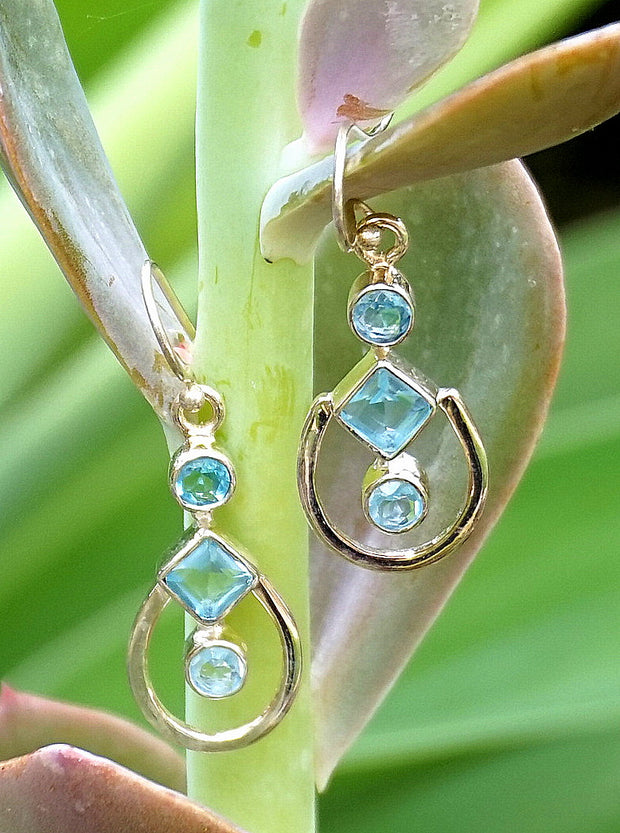Blue Topaz Earring Set 3