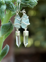 Aquamarine Rough Earring Set 1