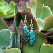 Chrysocolla Earring Set 1 with Peridot