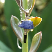 Rough Tanzanite Pendant 2 with Tourmaline Crystal