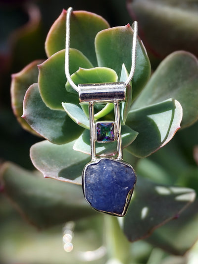 Rough Tanzanite Pendant 3